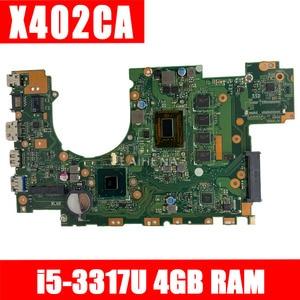 LAIHENA X402CA Motherboard i5-3317U 4GB RAM For ASUS X502CA X402CA Laptop motherboard X402CA Mainboard X402CA Motherboard(China)