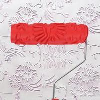 Teste Padrão de flor de Borracha Rolo de Pintura Rolo de Pintura Padrão da Textura Em Relevo de Fundo Rolo De Pintura de Parede Decorativos para Casa Dropshippi