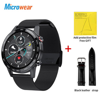 Microwear L16 Smart Watch Men Sports Fitness Tracker IP68 Waterproof Heart Rate Monitor Android IOS Full Touch Screen Smartwatch 23