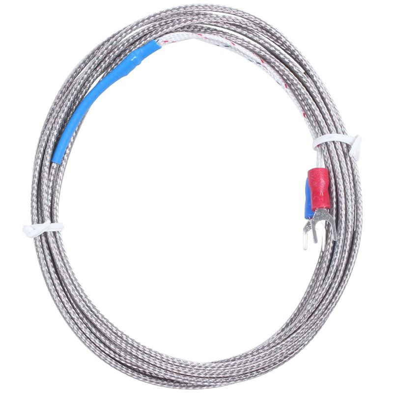 9mm X 5mm Probe Ring K Type Thermocouple Temperature Sensor 2M 6.6Ft