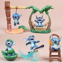 דיסני לילו & תפר 5 יח\סט 5 7cm פעולה איור אנימה קישוט אוסף צלמית מיני בובת צעצוע דגם לילדים מתנה