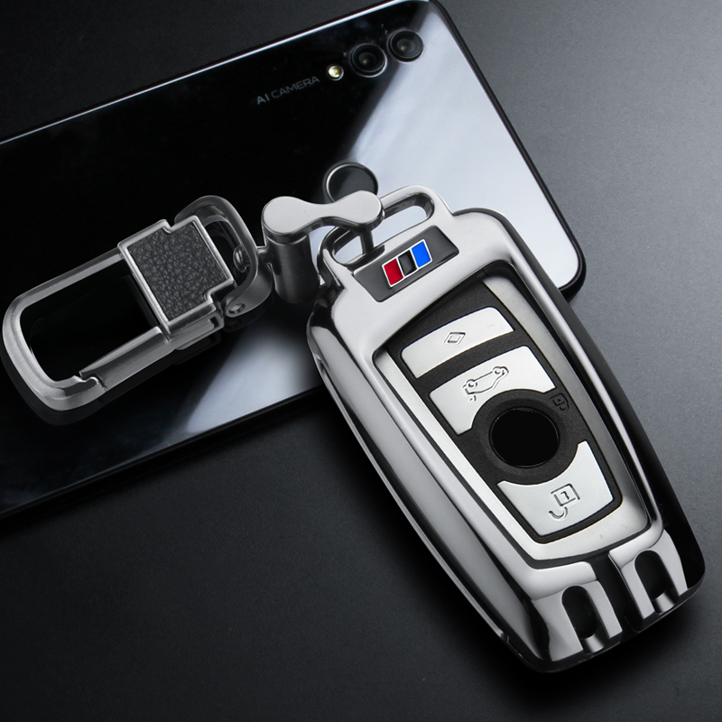 New Metal Remote Key Case Cover For BMW 1 2 3 4 5 6 7 Series X1 X3 X4 X5 X6 F30 F34 F10 F07 F20 G30 Car Accessories|Key Case for Car| |  - title=