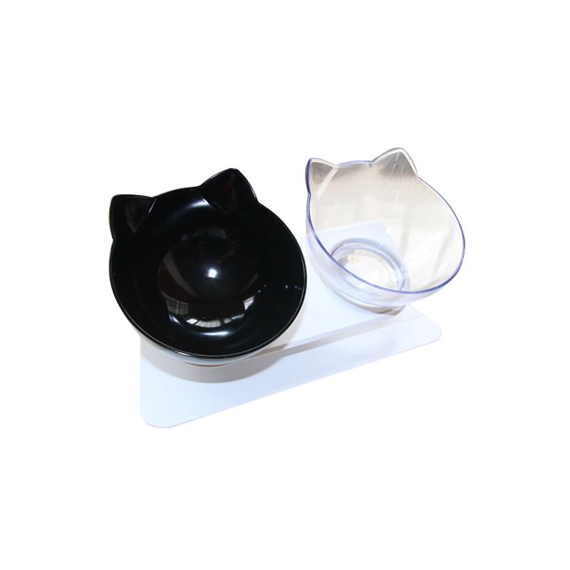 Cat Bowls Double Bowls With Raised Stand Pet Food And Water Bowls For Cats Dogs Feeders Non-slip Cat Bowl Pet Supplies