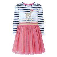 Baby Girls Party Dresses Princess Costume Cotton Lace Dress Kids Clothes Animal Appliques Toddler Girl Dress Children Vestido