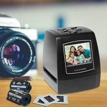 """네거티브 필름 스캐너 35mm 135mm 슬라이드 필름 변환기 사진 디지털 이미지 뷰어 2.4 """"LCD 내장 편집 소프트웨어"""