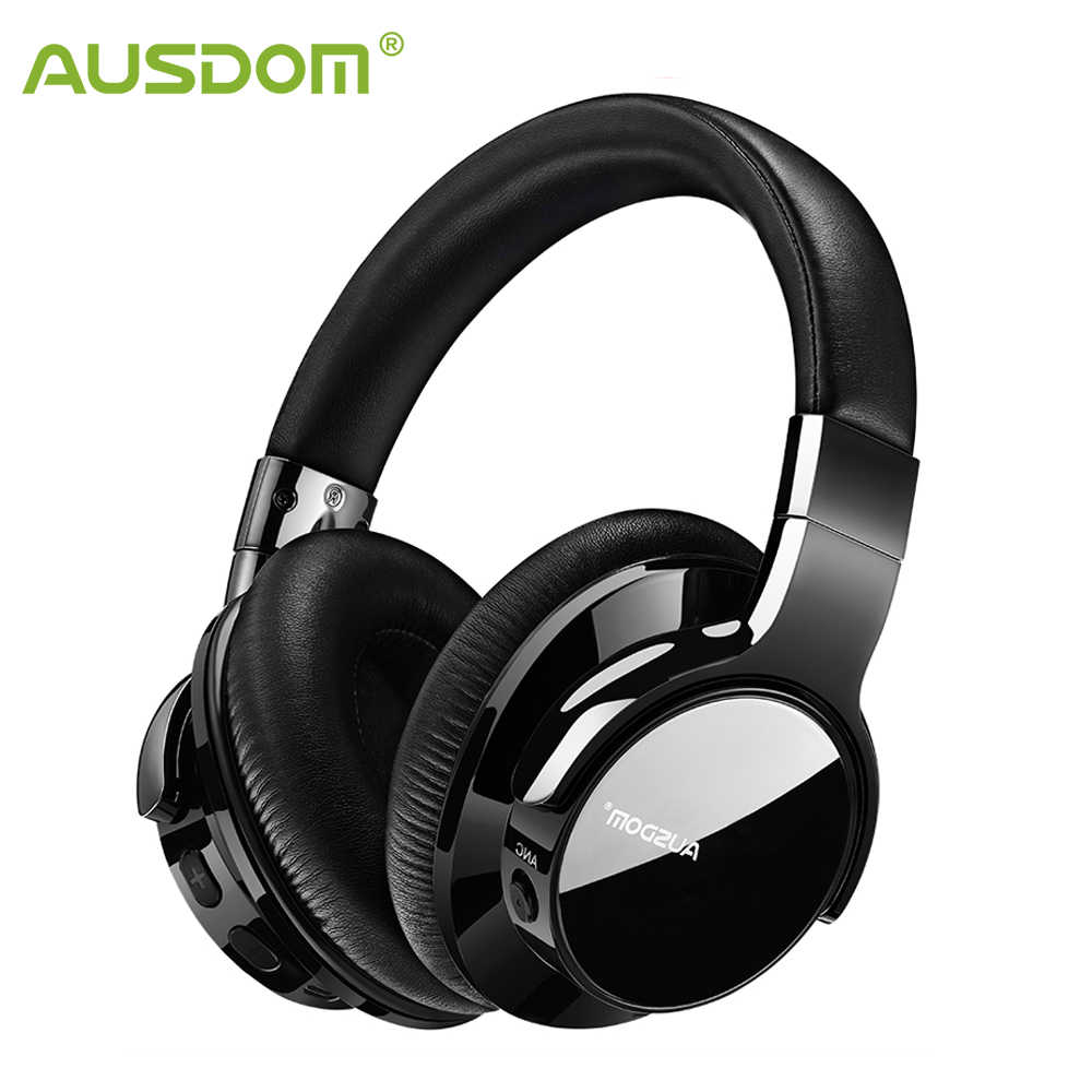 Ausdom Anc8 Active Noise Cancelling Wireless Headphones Bluetooth Headset With Super Hifi Deep Bass 20h Playtime For Travel Work Aliexpress