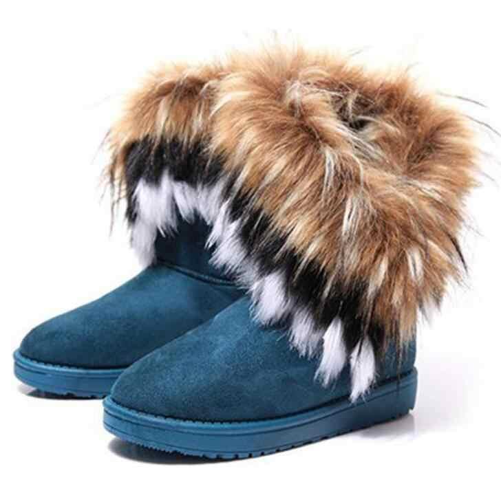 2019 บู๊ทส์หิมะฤดูหนาวใหม่ใหม่ FUR One Snow BOOTS หญิงฤดูใบไม้ร่วงและ Winter Fox FUR รองเท้ากลางแจ้งแฟชั่นรองเท้า