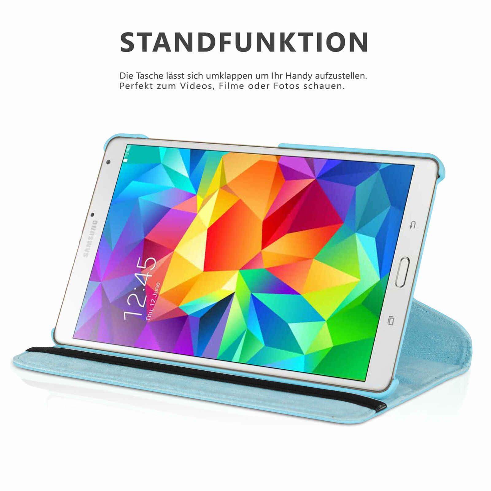 Untuk Samsung GALAXY Tab S 8.4 T700 T705 Case 360 Berputar Smart Berdiri Kulit PU Tablet Cover untuk Samsung Galaxy t700 T705 Cover