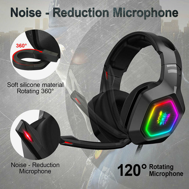 3.5mm K10 Gaming Headset Headphones Wired Gamer Headphone Stereo Sound Headsets with Mic LED light for PC Laptop  Pro