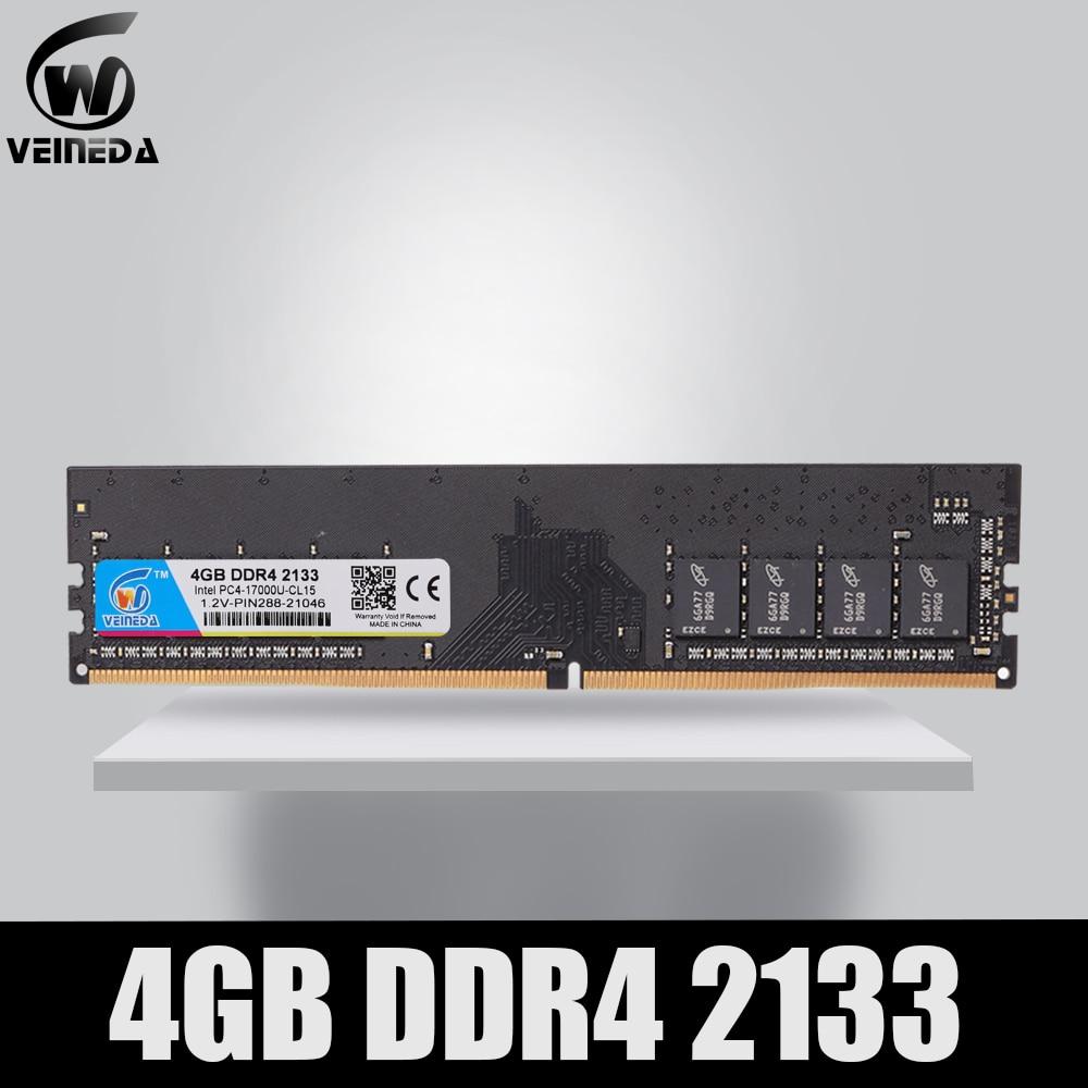 VEINEDA Ram DDR4 8GB PC4-19200 Memory Ram Ddr 4 2400 For Intel AMD DeskPC Mobo Ddr4 8 Gb 284pin Brand Dimm
