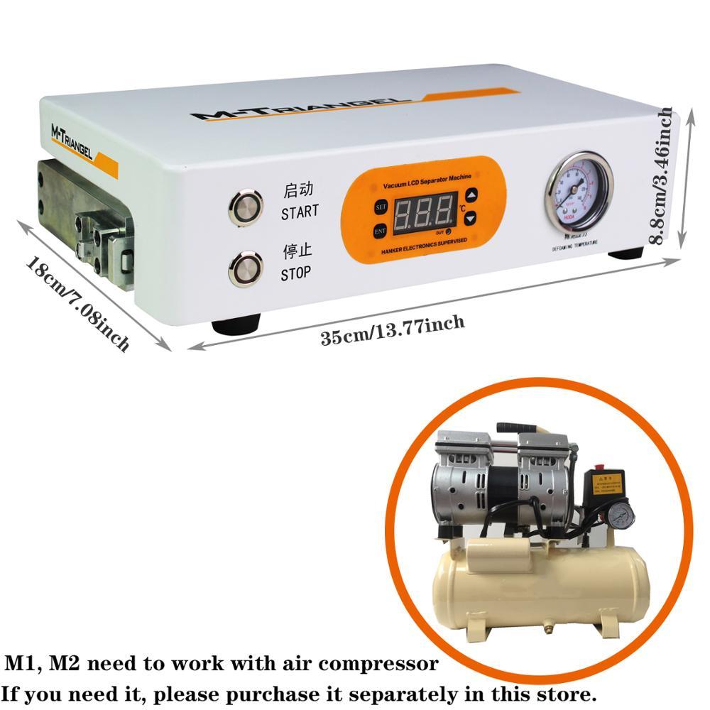 Pantalla Plana LCD removedor de burbujas máquina de alta presión LCD reacondicionamiento 220 V/110 V 7 pulgadas pantalla necesita bomba externa m triangel M1 - 6