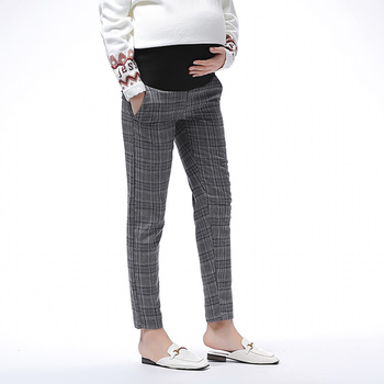 Abdominal Adjustable Maternity Pants Casual Trousers for Pregnant Women Clothing Sport Elastic Force Loose Lattice Pants цена 2017