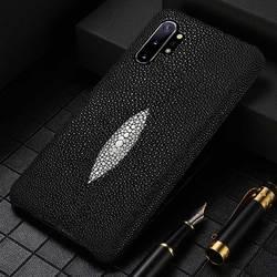 Asli Pearl-Gray Kulit Phone Case untuk Samsung Galaxy S20 Ultra Catatan 10 9 A50 A51 A70 A80 A30 S7 s8 S9 S10 S20 Plus Cover