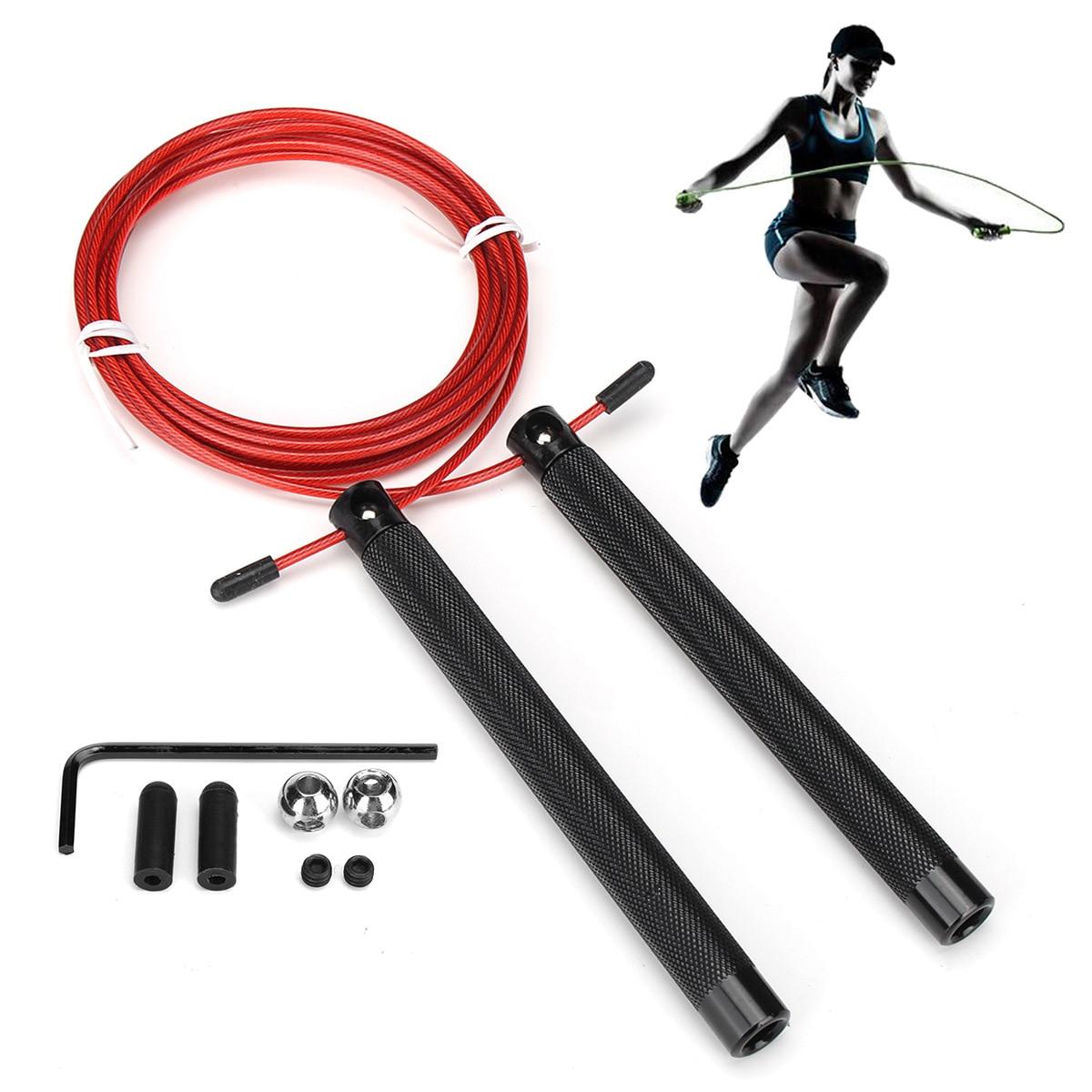 New Style Jump Rope Adjustable Metal Universal Racing Aluminum Handle Bearing Jump Rope Training Fitness Jump Rope