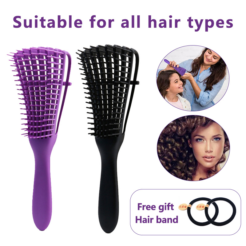 Detangling curly Hair Brush Massage Wet Hair Comb Detangler Hairbrush 2a to 4c Kinky Wavy/Curly/Coily/Wet/Dry/Oil/Thick Hair