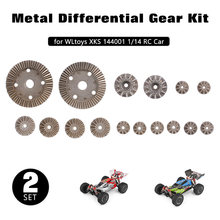 WLtoys – engrenage de voiture XKS 144001 1/14 RC, engrenage différentiel, engrenage principal en métal, Kit 2 * engrenage, pièces de voiture RC