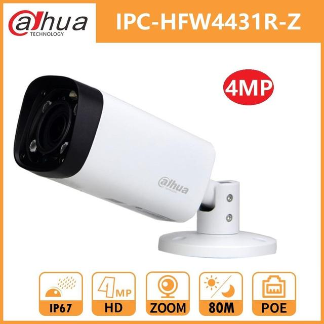 Dahua 4MP Night Bullet IP Camera DH IPC HFW4431R Z Zoom 2.7 12mm Motorized VF Lens IR 80M PoE Security Network Camera WDR 3DNR