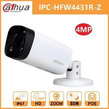 Dahua 4mp noite bala câmera ip dh IPC HFW4431R Z zoom 2.7 12mm motorizado vf lente ir 80m poe câmera de rede de segurança wdr 3dnr