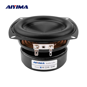 Image 1 - AIYIMA 1Pcs 4 Inch Woofer Speaker Driver Hifi 4 8 Ohm 100W Bass Sound Speaker Waterproof Subwoofer DIY Sound Home Theater