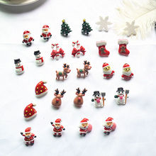 Cute Christmas Women's Earrings Resin Red Reindeer Ear Post Stud Earring Jewelry Wife Girls Gifts For The New Year 25mm, 1 Pair