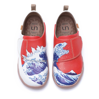 NEW UIN Kids Casual Shoes Hook & Loop Wavy Design Painted Soft Kids Flats for Boys/Girls Outdoor Children Shoes Red 2020 Spring