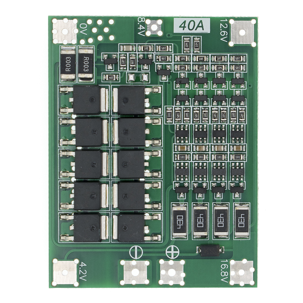 4 string 4S 40A Li-ion Lithium Battery 18650 Charger BMS Protection Board with Balance For Drill Motor 14.8V 16.8V Lipo Module S(China)