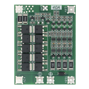 4S 40A ليثيوم أيون بطارية ليثيوم 18650 شاحن لوحة دائرة مطبوعة BMS لوح حماية مع التوازن ل الحفر موتور 14.8V 16.8V يبو وحدة الخليوي