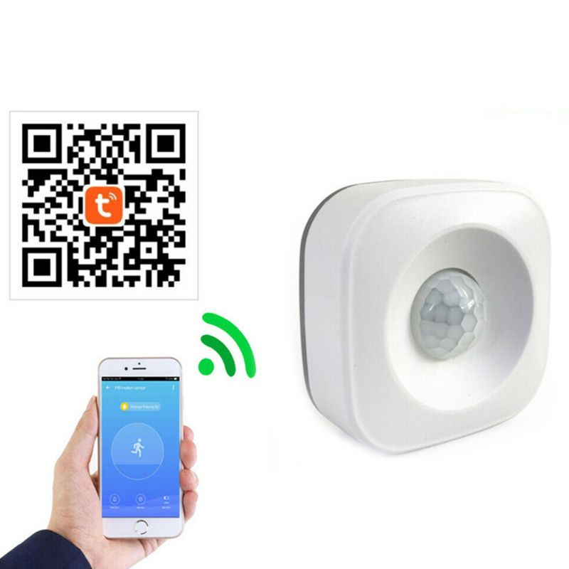 WiFi Smart Home PIR Motion Sensor Wireless Infrared Detector Security Burglar Alarm System For Home Office Use Supplies