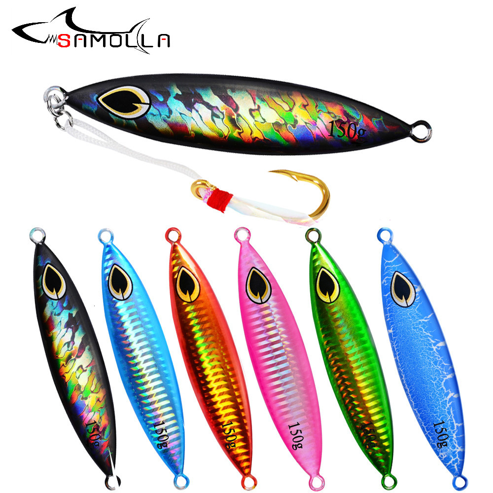 Metal Jig Fishing <font><b>Lure</b></font> Weights <font><b>150G</b></font> Bass Fishing Hard <font><b>Jigging</b></font> Bait Tackle Holographic Trout <font><b>Lure</b></font> Jigs Articulos De Pesca <font><b>Lures</b></font> image