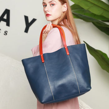 2020 leather bags women Euramerican fashion large capacity Leather ladies hand bags Tote bags Single shoulder bag bolsa feminina