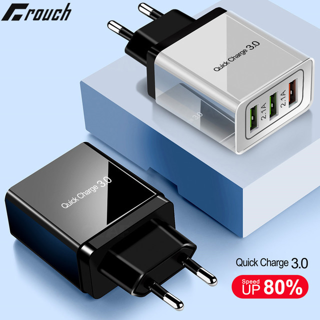 Crouch Fast Charger for iPhone 7 8 X XR Quick Charge 3 0 for Huawei