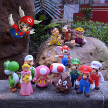 Super Mario Figures Toys Super Mario Bros Bowser Luigi Koopa Yoshi Mario Odyssey PVC Action Figure Model Dolls Toy Kid Gift цена 2017
