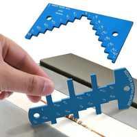 Scie à Table règle de mesure mesure de profondeur jauge de hauteur en alliage d'aluminium petite lame de scie à bois bricolage gadget outils