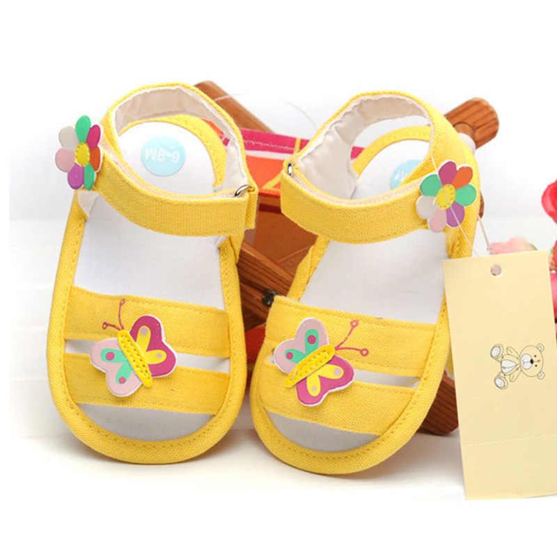 ผีเสื้อทารกแรกเกิดรองเท้าแตะเด็กทารก Nonslip Soft Soled ฤดูร้อน Breathable รองเท้าแตะสำหรับ 6-18M