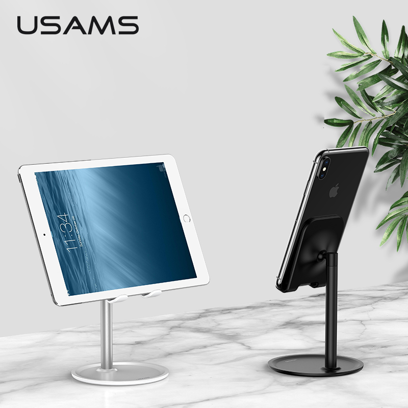 USAMS Mobile-Phone-Holder Phone-Stand Tablet Desktop Huawei iPad Universal No for 6-x/Universal/Non-slip/..