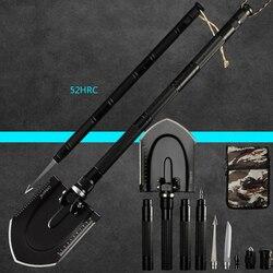Pala de ingeniería multifunción de 97 cm, herramientas de pesca al aire libre para jardín, equipo de supervivencia, pala de nieve con bolsa gratis