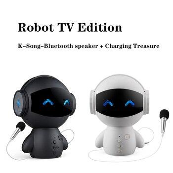 New Cute Intelligent Robot Bluetooth Speaker M10 Mini Smart-Robot Super Bass Portable Bluetooth Speakers For Power Bank Music