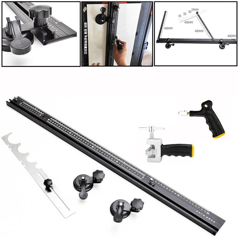 80cm Straight Line Cutting Ruler Level Positioning Measuring Ruler Ceramic Tile Cutting Glass Cutting Tools Woodworking Tools