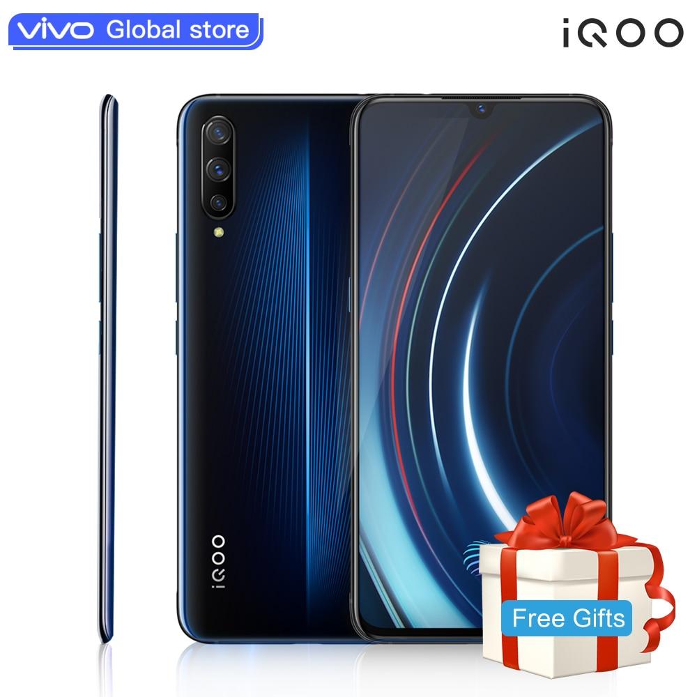 Autorizado vivo celular 9 iQOO Mobile Phone 6.41-polegada de tela Grande Android Snapdragon 855 NFC 4000mAh 44W carga rápida carregador de Celular