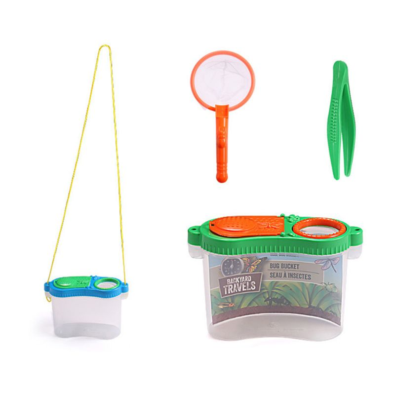 OOTDTY Portable Insect Observer Child Magnifier Toy Observation Box Children Outdoor Experiment Exploration Equipment Supplies