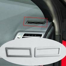 2Pcs Silber ABS Dashboard Klimaanlage Vent Abdeckung Trim Für Mercedes Benz E Klasse Coupe W207 C207 2009-2017 auto Zubehör