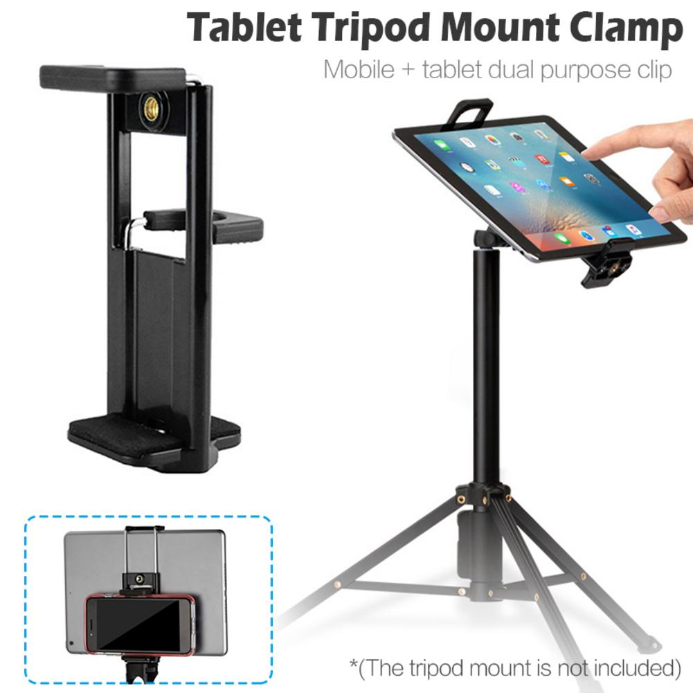 Universal 1/4'' Thread Tripod Mount Holder Stand Bracket Extendable Adapter For IPad 2/3/4/Air/Air 2 4-11inch Tablets Phone