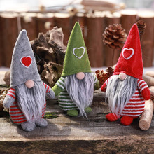 Xmas new Year Christmas Decoration Ornaments Nordic Swedish Gnome Plush Standing Elf Santa Claus Dwarf Figurine for Home Holiday