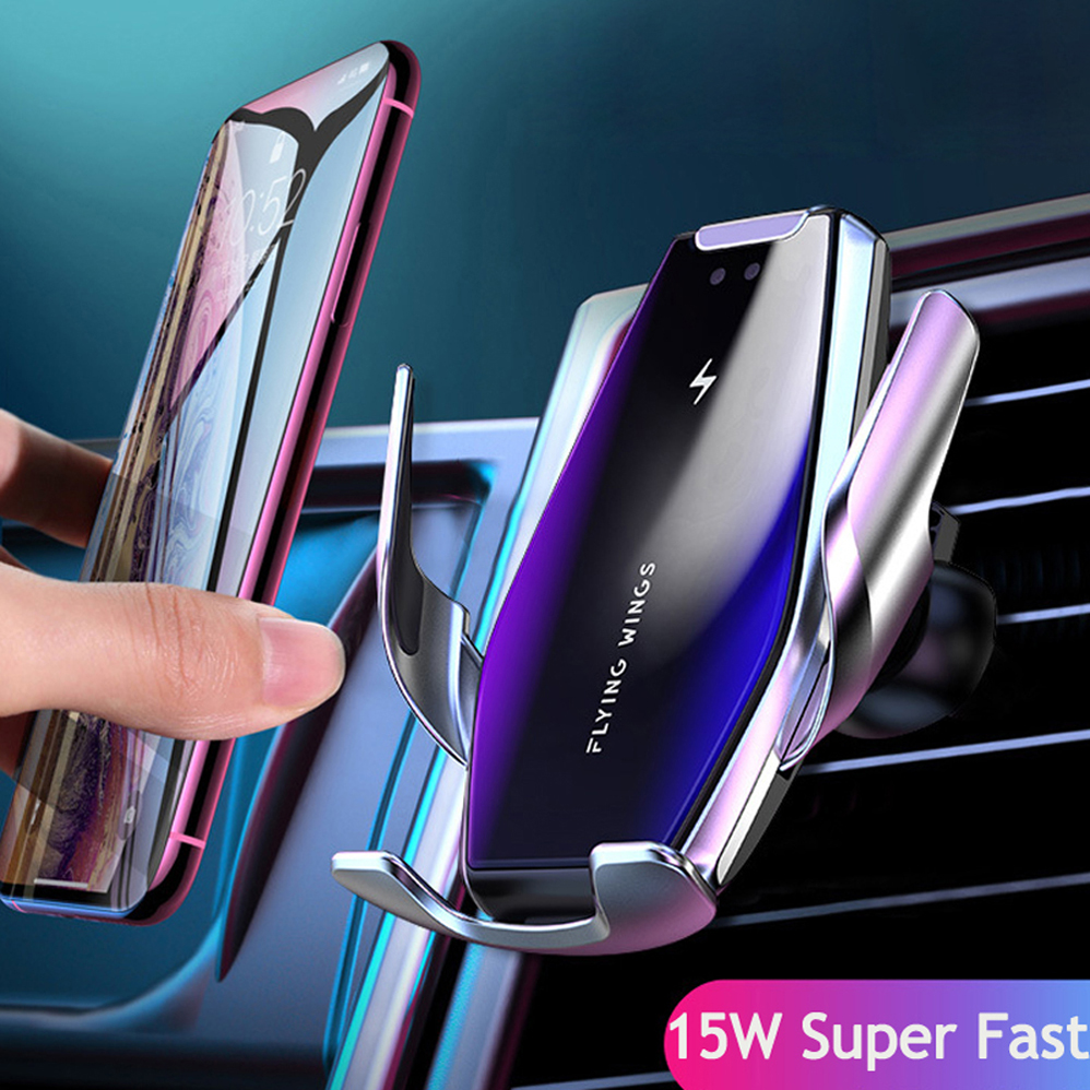 FDGAO-Automatic-15W-Car-Qi-Fast-Wireless-Charger-For-iphone-X-8-XS-11-Pro-Max