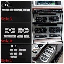 Console central do carro multimídia ar condicionado botão remendo de vidro elevador botão adesivo para jaguar xf 2012-2015 acessório interior