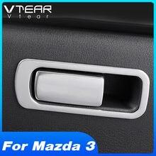 Vtear-molduras de molduras para Interior de coche, accesorios para guantera de copiloto, moldura de marco, pegatina de modificación de coche, para Mazda 3 2020 2019