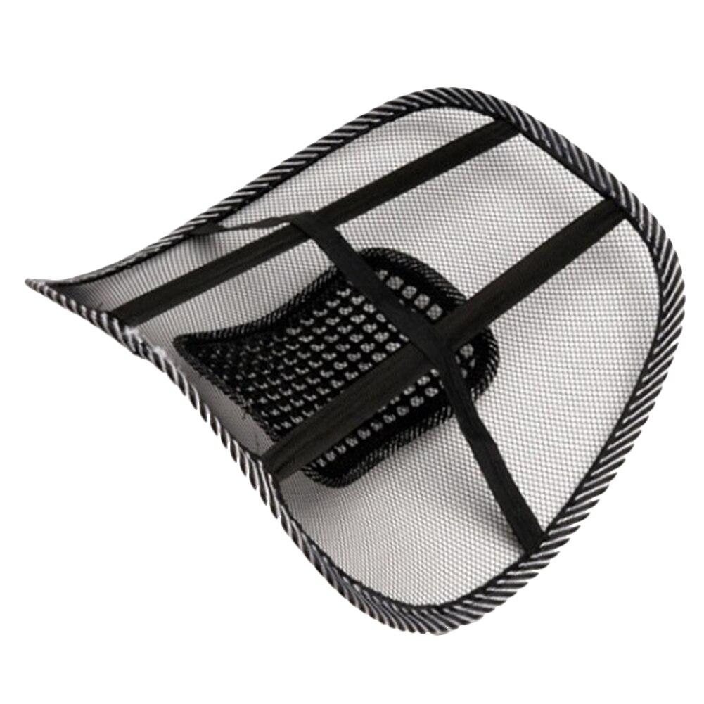 Car Seat Office Chair Massage Back Lumbar Support Mesh Ventilate Cushion Pad 46*39cm