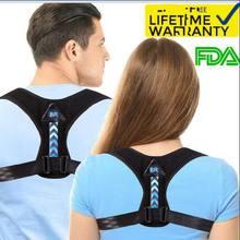 Posture Corrector For Men And Women Kids - Adjustable Upper Back Brace For Clavicle To Support Neck, Back and Shoulder