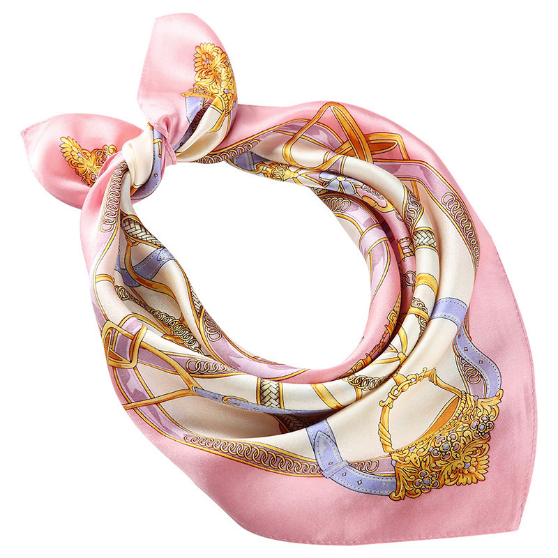 Oriental Silk Square, Silk Scarves, Silk Handkerchief Ms Joker Chinese Silk Crepe Satin Silk Printing Small Towel