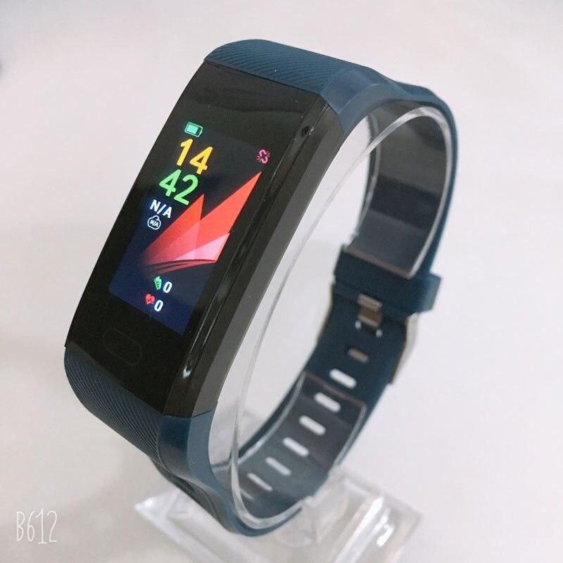 H8b7ab0903d72445bad2e25132f2fb8d2Q Fitness Bracelet Blood Pressure Measurement Waterproof Smart Band Bracelet Watch Fitness Tracker Heart Rate Activity Tracker